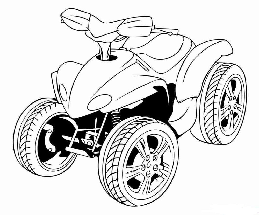 Four Wheeler Coloring Pages Easy 101 Worksheets Coloring Pages For Kids Free Coloring Pages Coloring Pages