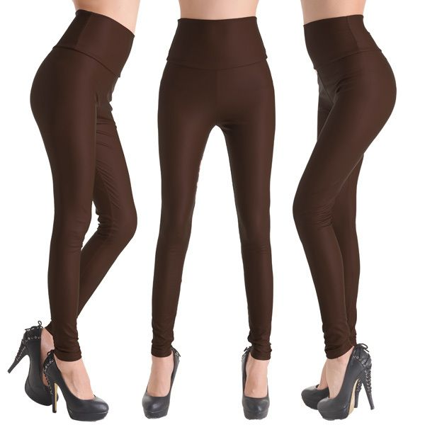 Womens Brown Leggings