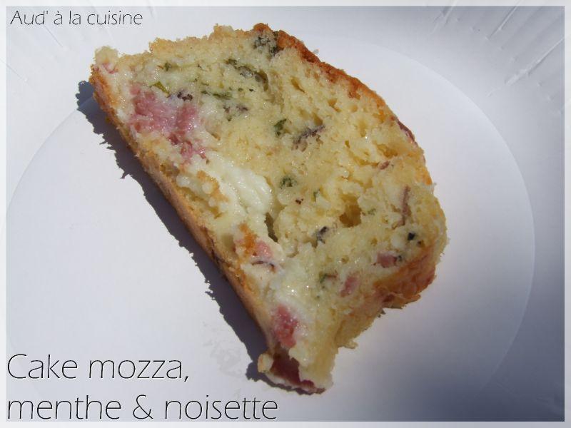 cake mozza menthe noisette