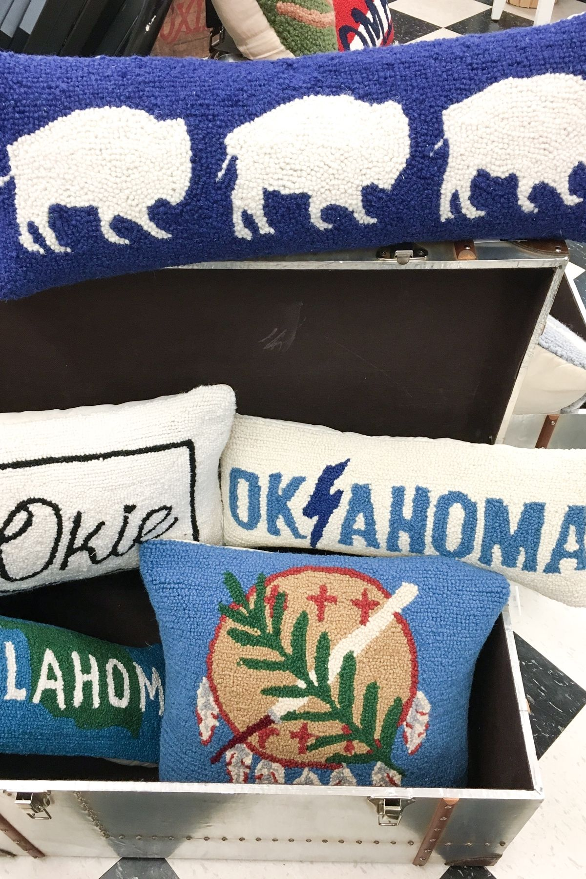 New Oklahoma pillows have arrived! If you don't see it on