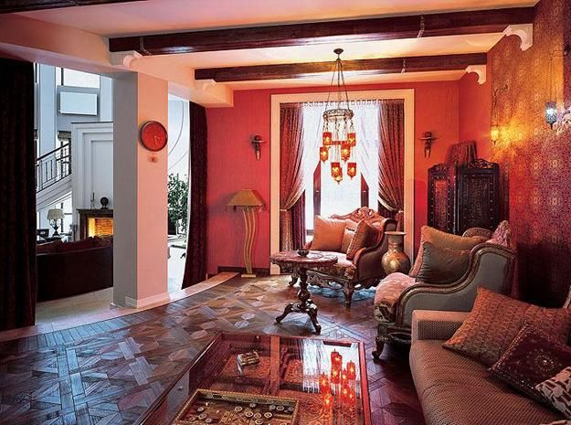 Attractive Moroccan Interior Design Style, Room Colors, Furniture And Decor  Accessories In Moroccan Style