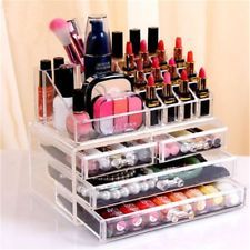 Clear Acrylic Cosmetic Organizer Makeup Case Jewelry Storage Holder