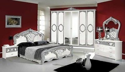 italienisches schlafzimmer rokko luxus 6 tlg bett komplett barock ideen rund ums haus. Black Bedroom Furniture Sets. Home Design Ideas