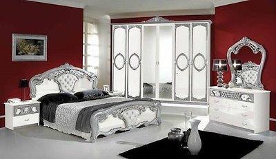Schon Italienisches Schlafzimmer Rokko Luxus 6 Tlg Bett Komplett Barock