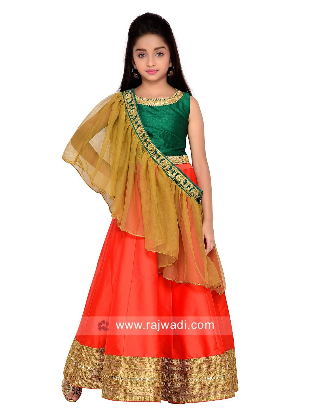 8df92de5e6a7d Kids Taffeta Lehenga Choli Set  rajwadi  kidswear  girls  ethnic   traditional  modern  trendy  fashionable  kidsfashion