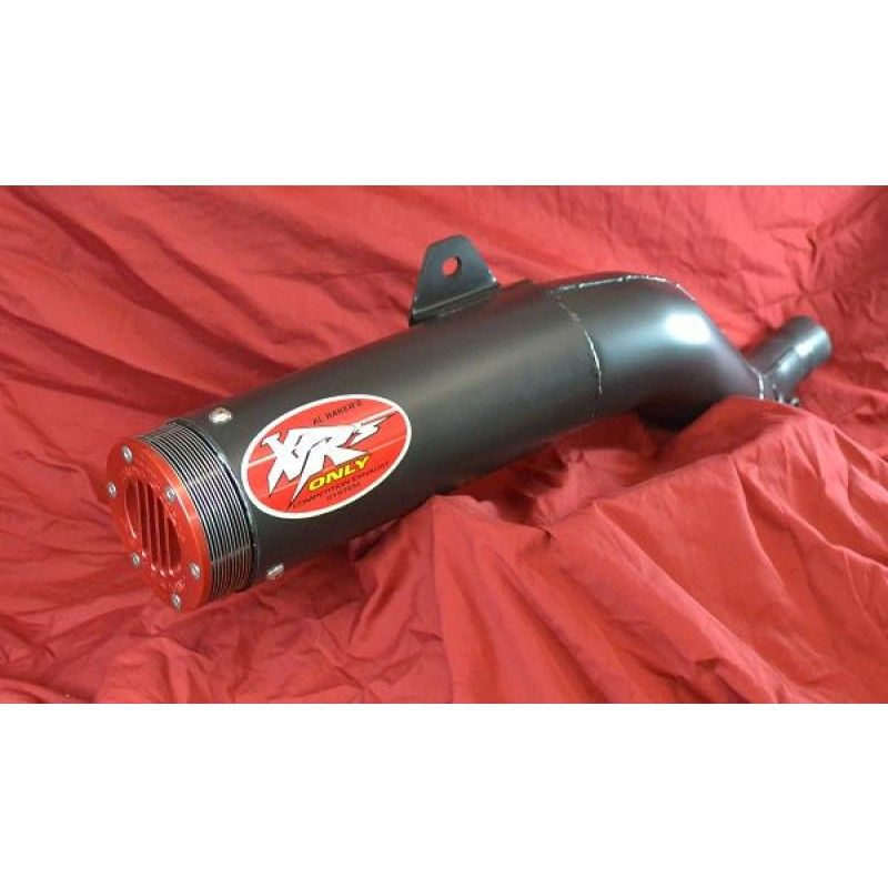 XRs Only Exhaust Pipe - Honda XR650R - Steel Round / Ceramic