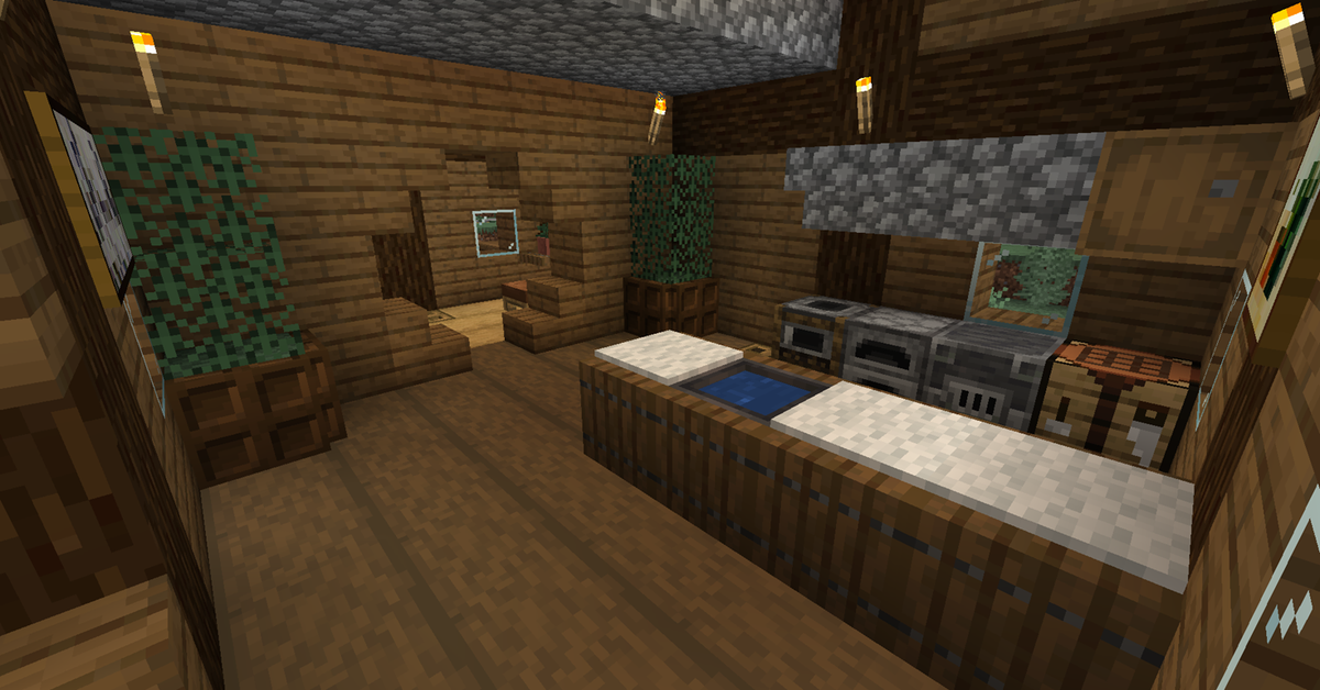 Cosy Little Kitchen In My Current House Minecraft Little