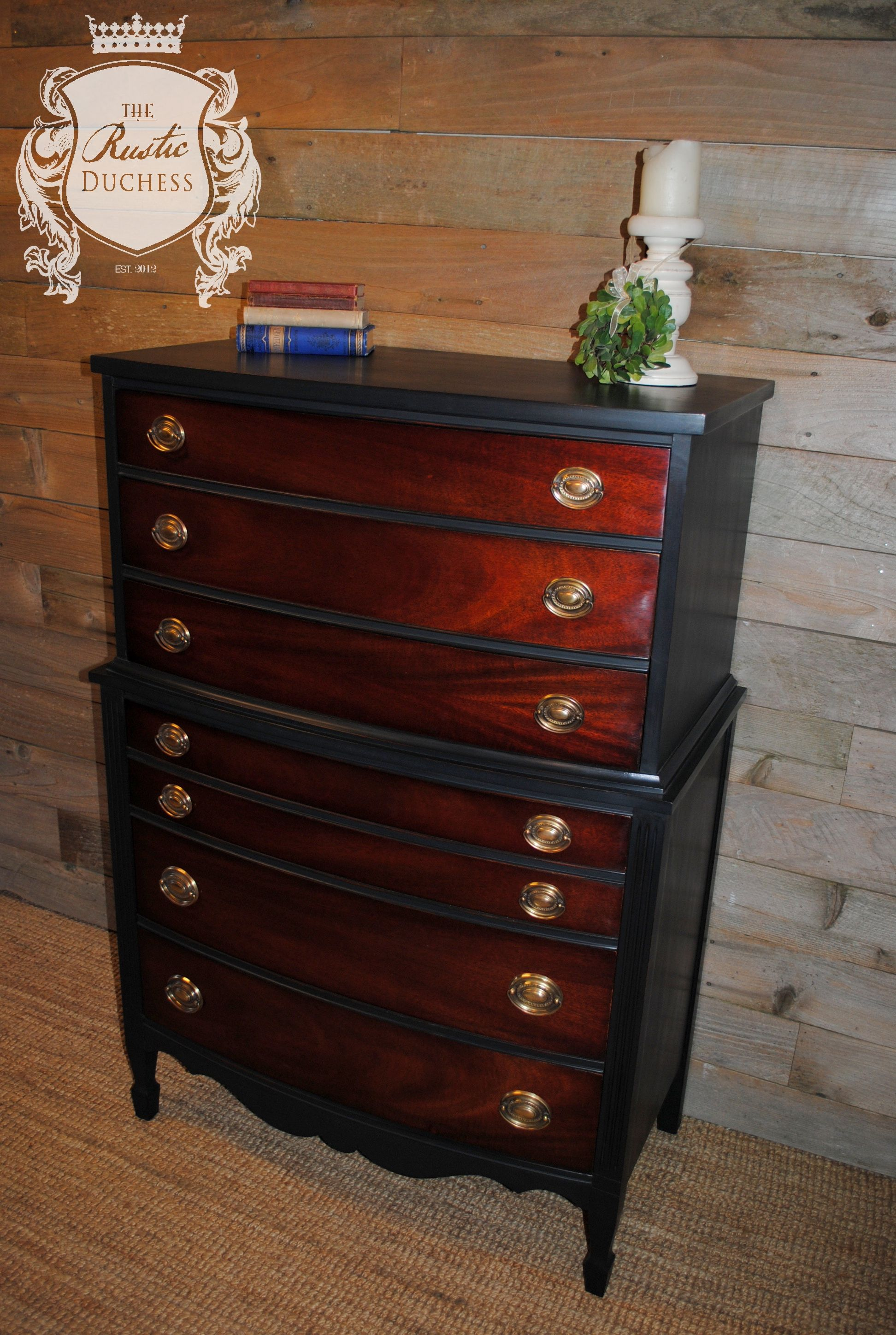Best Antique Upright Mahogany Dresser Done In 400 x 300