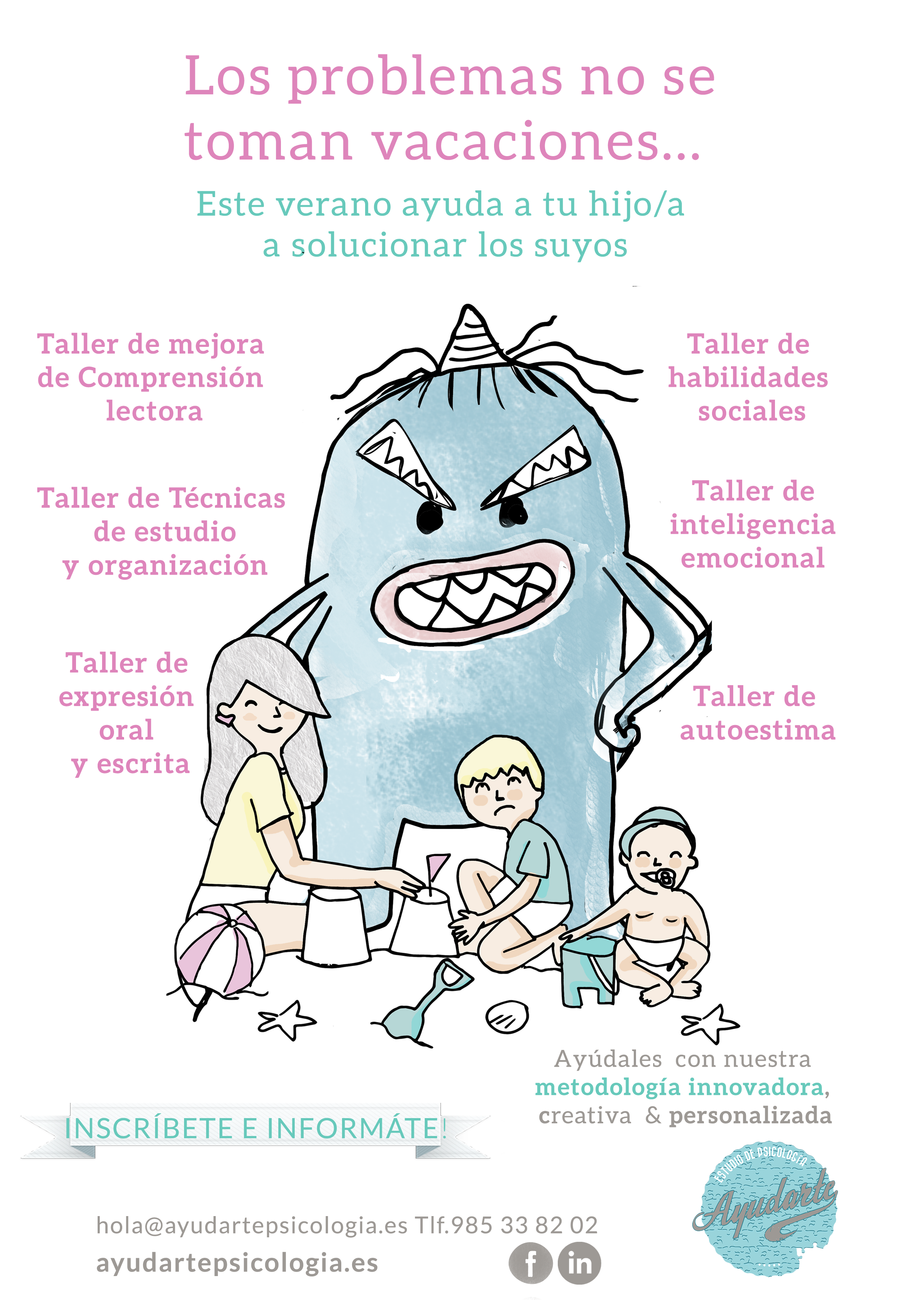 cartel verano 2017 ayudarte estudio psicología