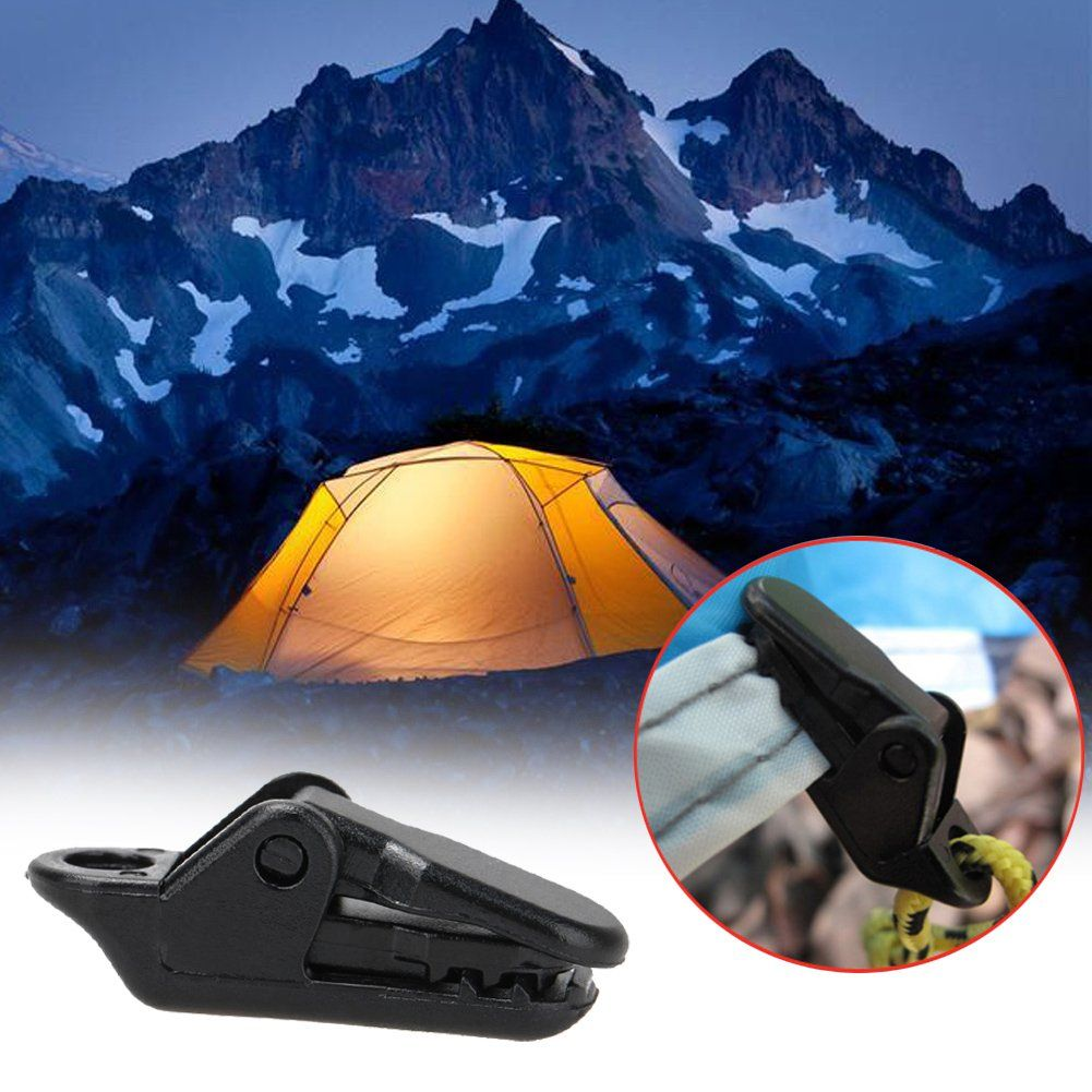 Hot Tarp Clips Clamp Awning Set Car Boat Cover Tent Tie Down Emergency Snap
