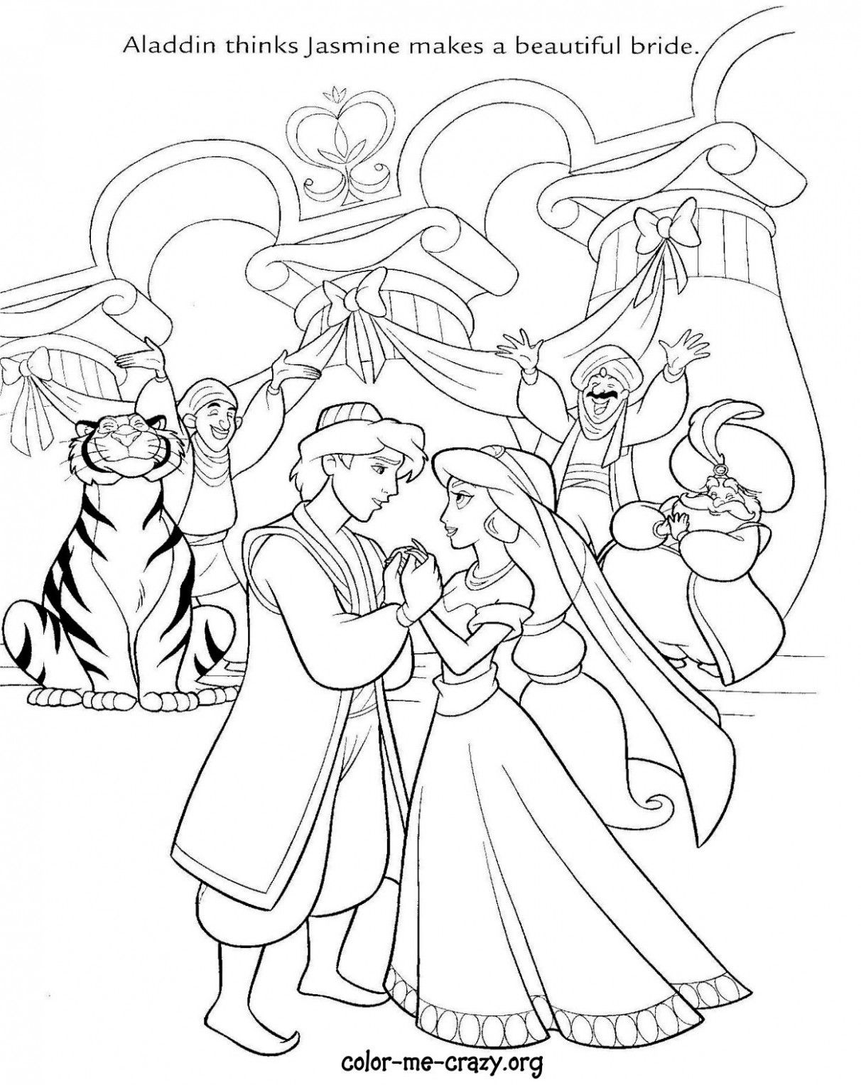 Disney Wedding Drawing Coloring Pages Wedding Drawing Disney