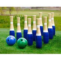 Sterling Sports Wooden Lawn Bowling Skittles Set Walmart Com Fun Outdoor Games Outdoor Bowling Backyard Games