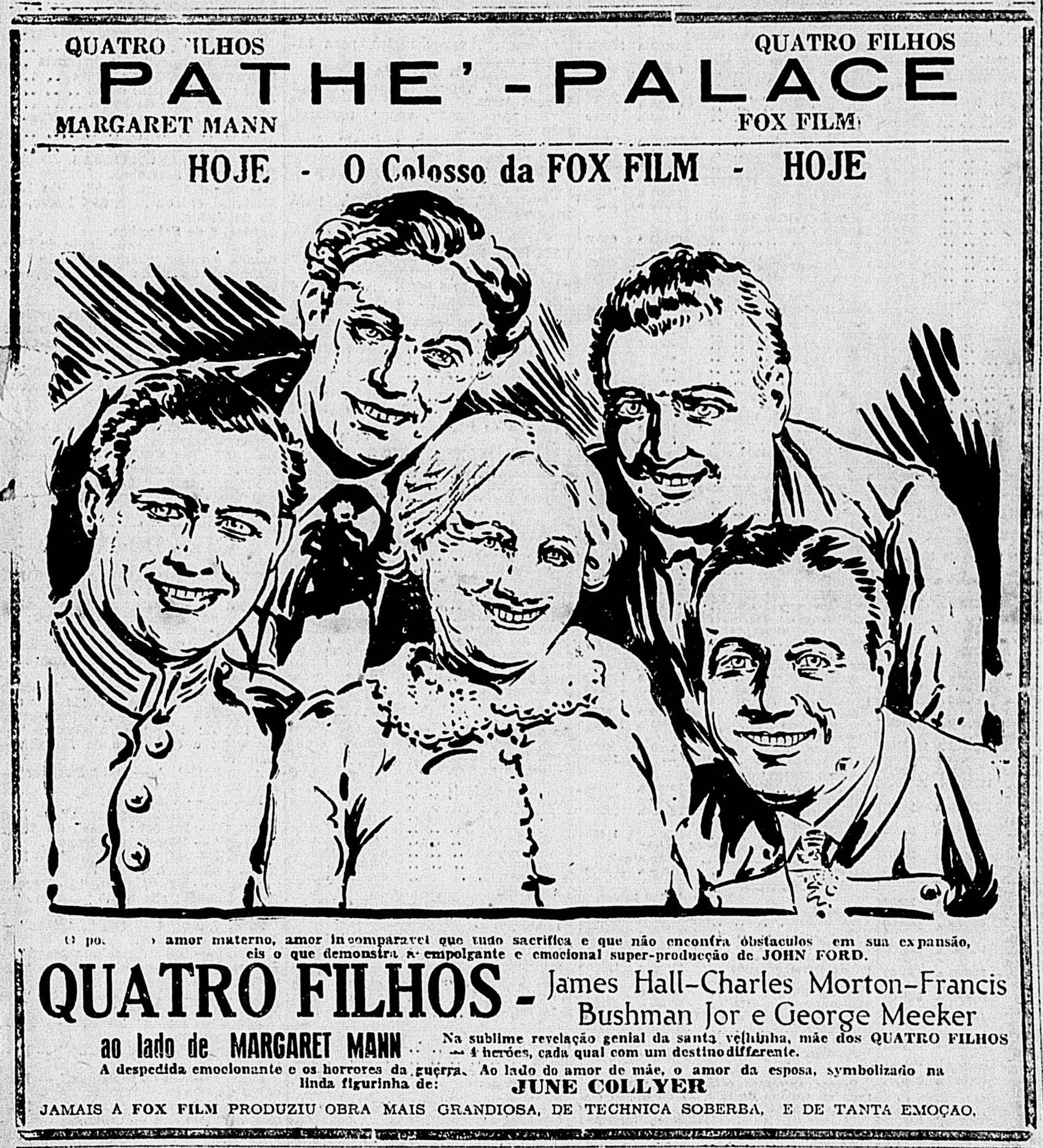 1928 Four Sons John Ford Diario Carioca Thursday September 4 1928 Rio De Janeiro Brazil With Images Historical Figures Memes Historical