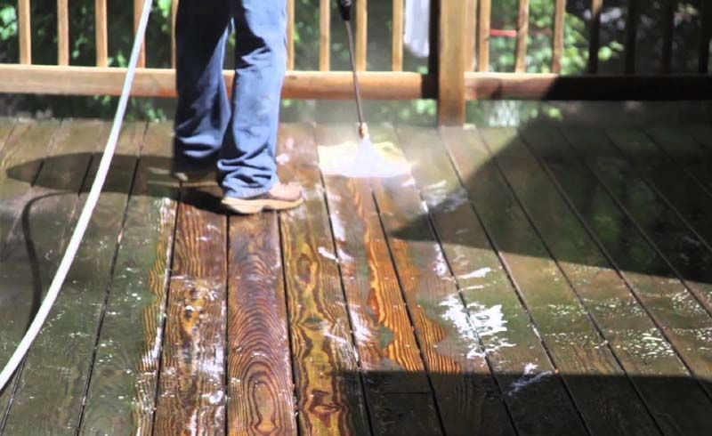 How to Clean Your Deck or Patio Treated wood deck