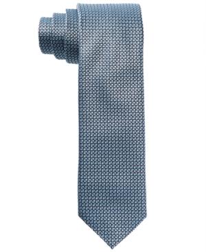451cd84c52 HUGO Men's Light Blue Micro Neat Skinny Silk Tie | Products | Silk ...
