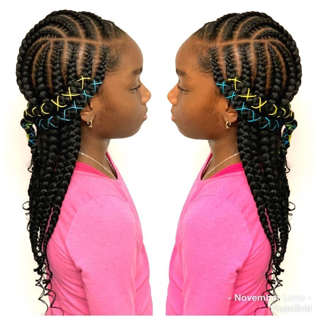 Large Layer Braids Cornrowhairstyles Braidscreativity