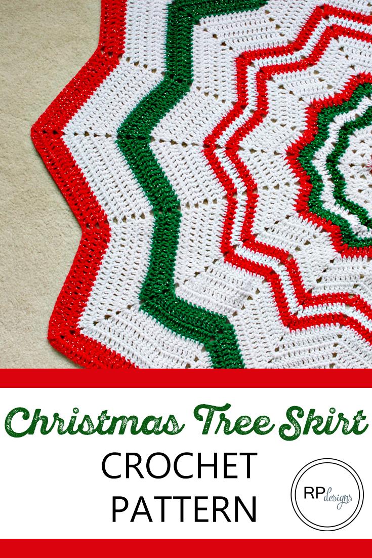 Crochet Tree Skirt Pattern - Free Crochet Pattern | Navidad, Carpeta ...
