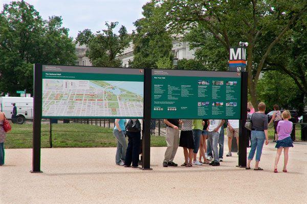 National Mall Wayfinding Signage, Washington, D.C.   iZone Imaging