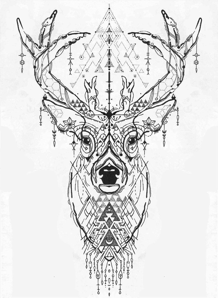 1899x2593 Deer Head Tattoo Geometric Tattoo Ideas  Today Pin  18992593 Deer Head Tattoo Geometric Tattoo Ideas