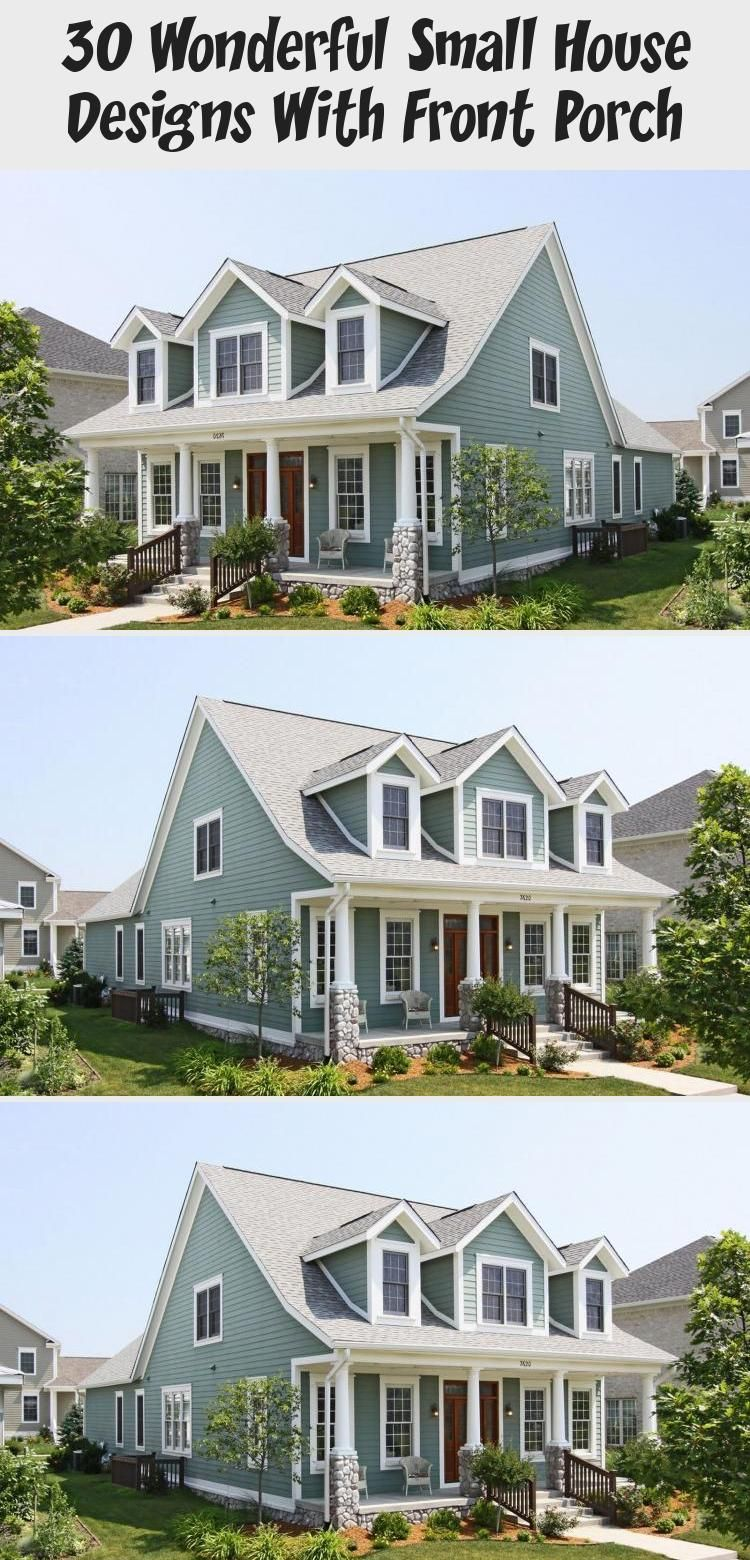 30 Wonderful Small House Designs With Front Porch Ruby S Blog In 2020 Small House Small House Design Small House Exteriors
