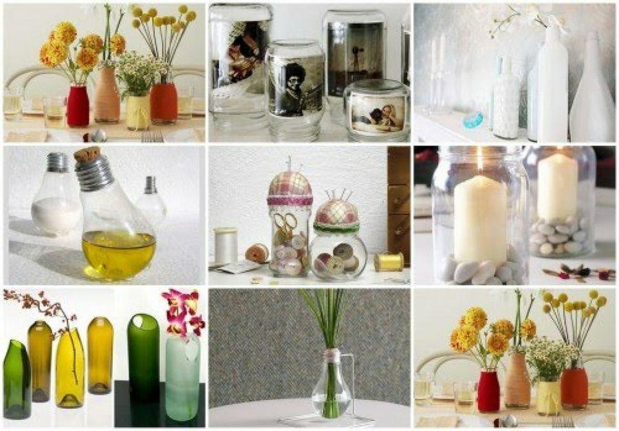 ideas muy visuales e para reciclar las botellas de vidrio