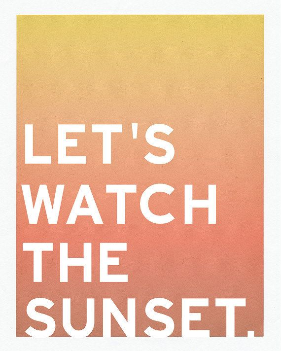 sunset typography | Sunset art, Typographic print ...