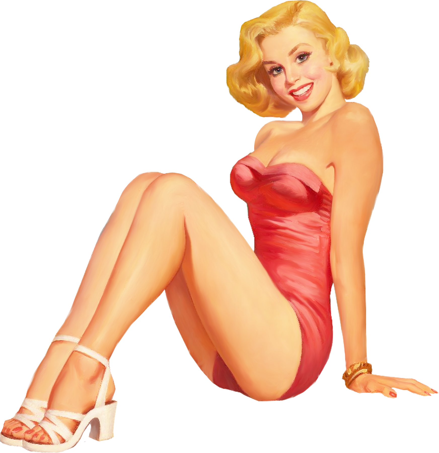 Pinup In One Piece W 3awhite Shoes Png Classic Pin Up