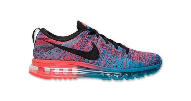 Nike Flyknit Air Max Blue Lagoon/Bright Crimson - Nice Kicks