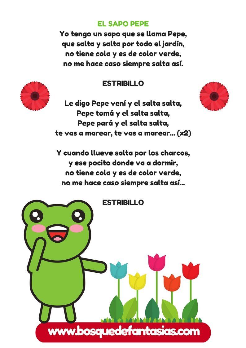 Cancionero Infantil Fichas Con Canciones De Animales Canciones Infantiles Letras De Canciones Infantiles Cancionero Infantil