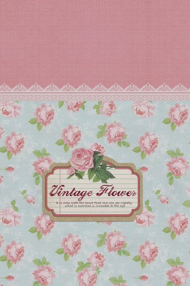 Vintage Flowers Pattern Sign IPhone 4s Wallpaper