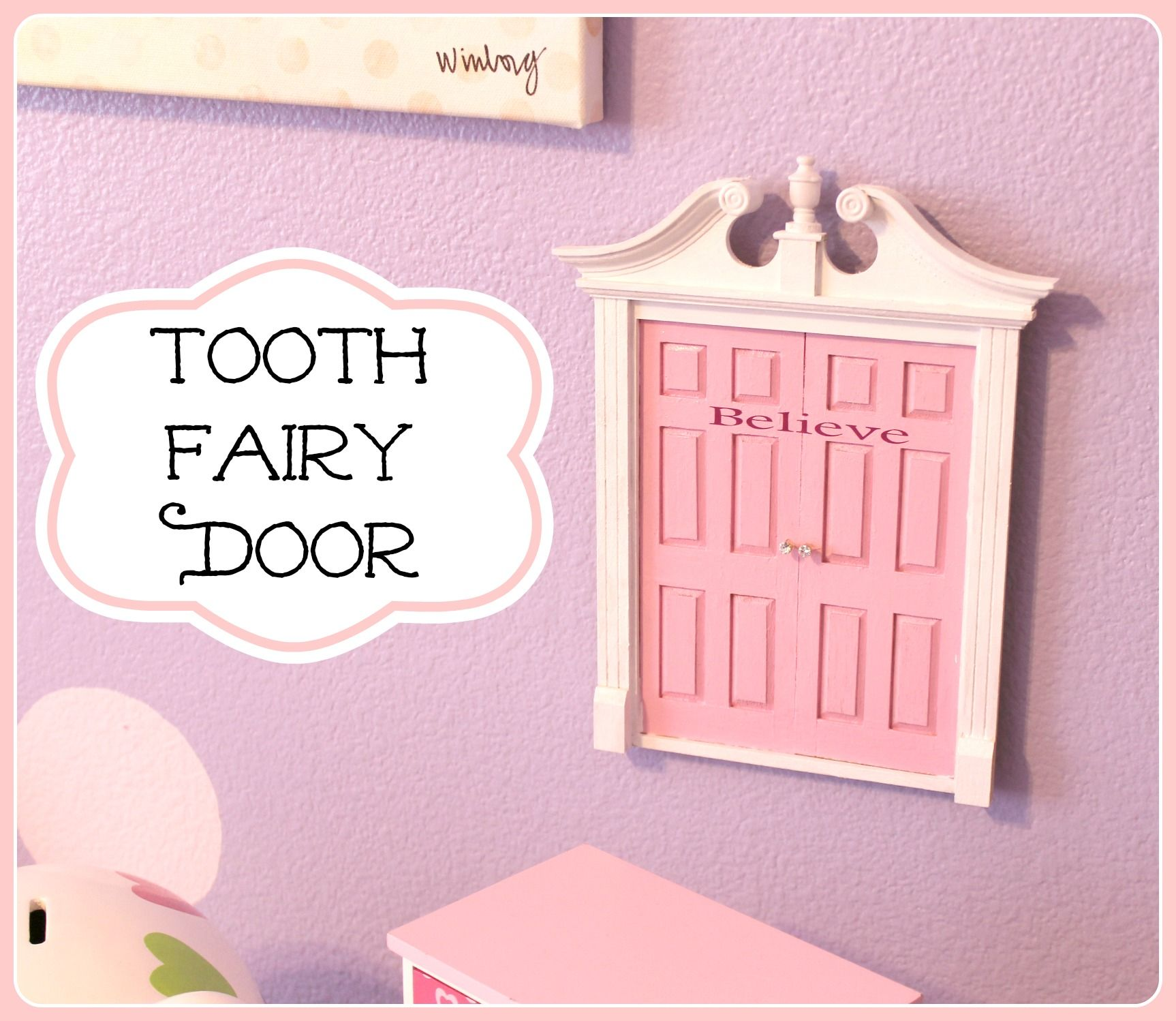 DIY Tooth Fairy Door. Did this right before St. Pattyu0027s Day for the little  sc 1 st  Pinterest & DIY Tooth Fairy Door. Did this right before St. Pattyu0027s Day for ... pezcame.com