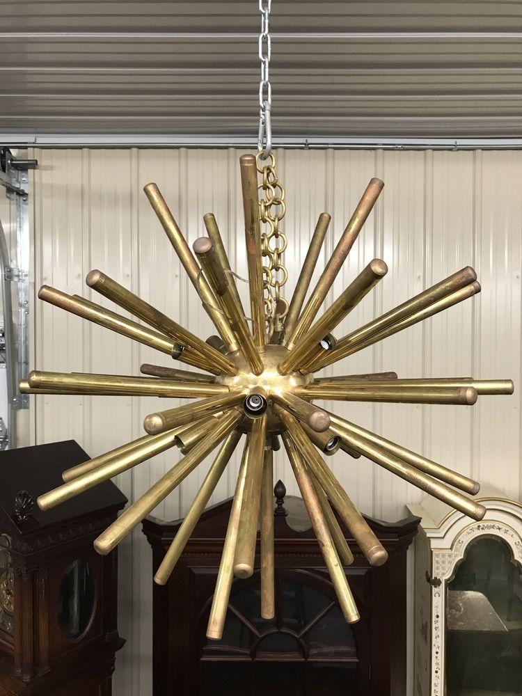 Italian bronze sputnik chandelier aloadofball Choice Image