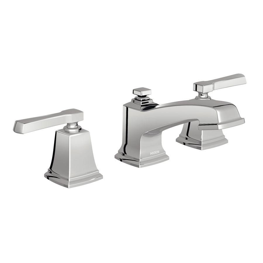 Shop Moen Boardwalk Chrome Handle Widespread WaterSense Bathroom - Moen boardwalk bathroom faucet for bathroom decor ideas