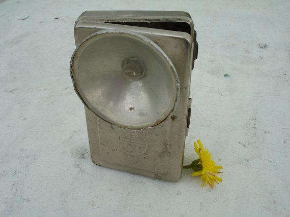 Vintage Flashlight Pocket Lantern Retro Soviet Metal Torch