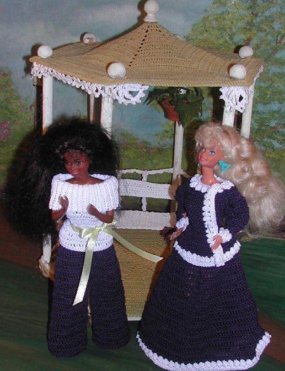 (1) Mode Puppe HÄKELANLEITUNG für 11 1/2 Fashion Dolls wie Barbie. Dies ist ein Muster nicht das fertige Produkt. #325 mischen Magazin-Original Design von ICS Original Designs - machen mit #10 Häkelgarn. Wenn Sie möchten die Muster per e-Mail an Sie gesendet haben, anstatt per