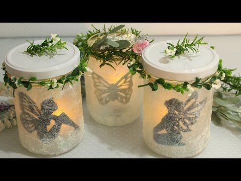 diy leuchtende deko gl ser feen laternen fairy jars fairy lantern youtube deco. Black Bedroom Furniture Sets. Home Design Ideas