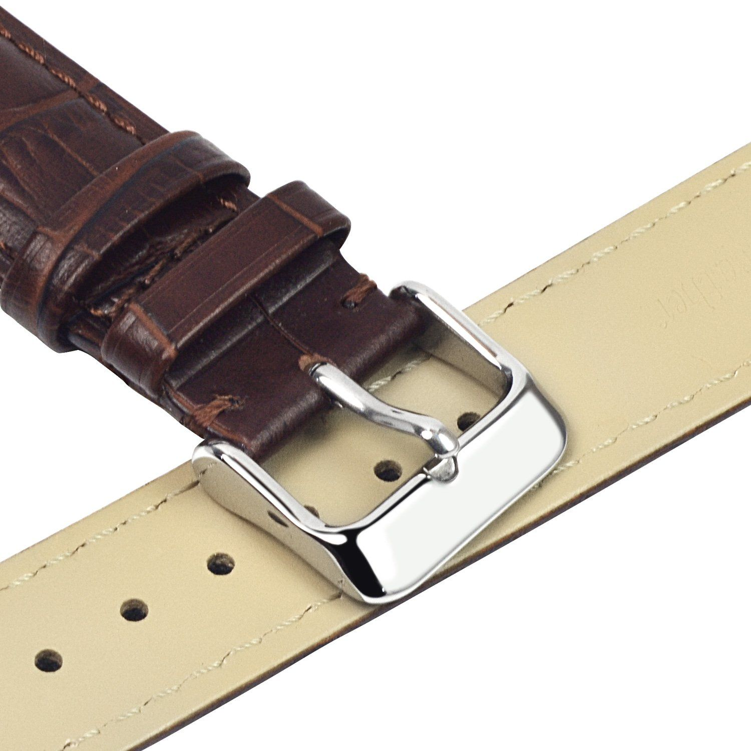 9c67e8d40c0 TStrap 18mm Leather Watch Band Brown Soft w  Watch Clasp Buckle Watch Strap  Bracelet Replacement    Check out the image by visiting the link.