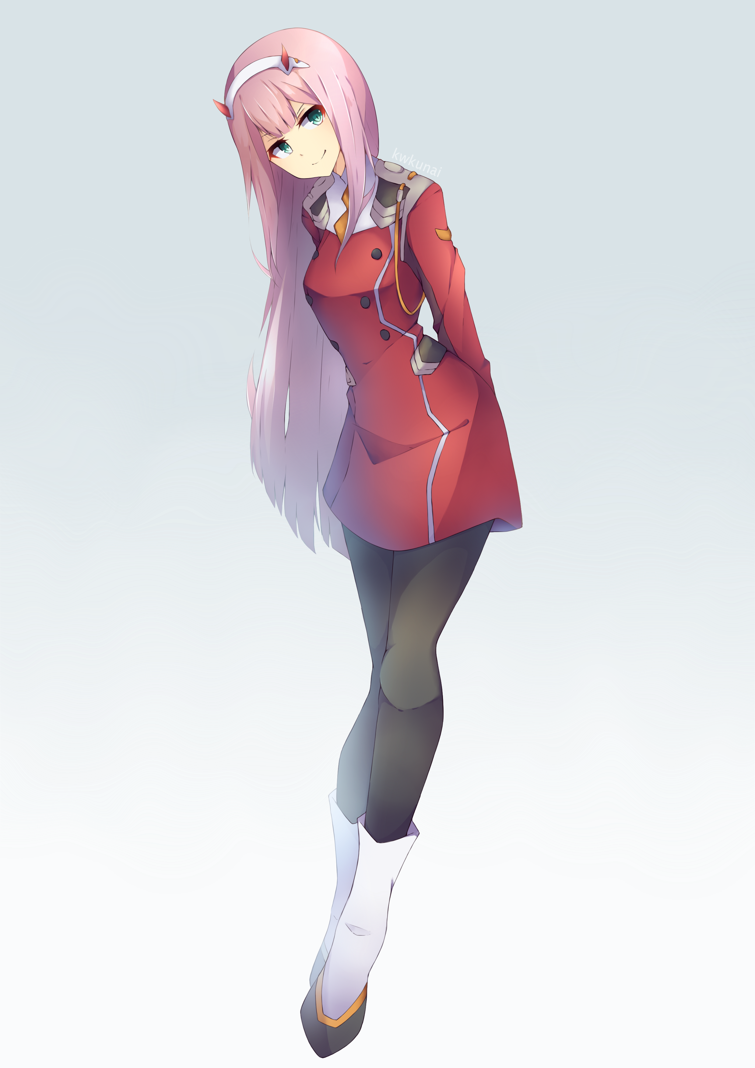 Zero Two Darling In The Franxx Full 2255567 Png 2 480 3 507 Pixels