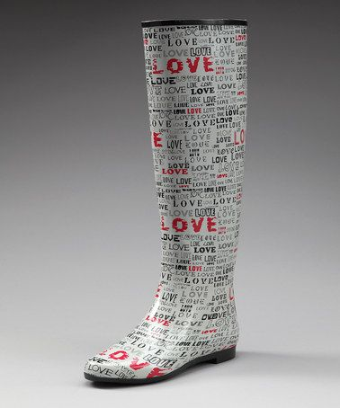 Take a look at this White 'Love' Colorado Rain Boot $23.49