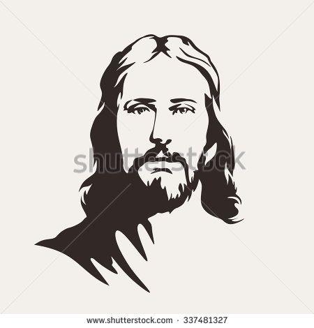 Portrait Of Christ Black And White Google Search Silueta De Imagenes Dibujos De Jesus Rostro De Jesus