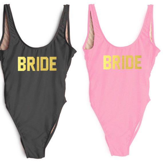 f9bca5769c2b3 Bride Bathing suit-Bride Squad Bathing Suit-Bride Swimwear-Squad Swimwear-Bridesmaid  Gift-Honeymoon-Bridal Bathing suit- Bridal Swim Suit