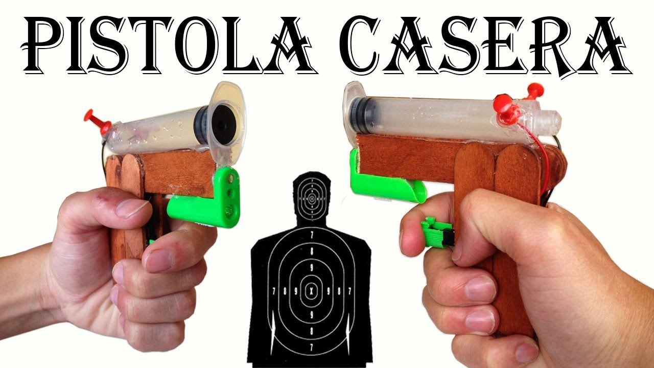 Como hacer una pistola con un encendedor y una jeringa - Hacer boligrafos en casa ...