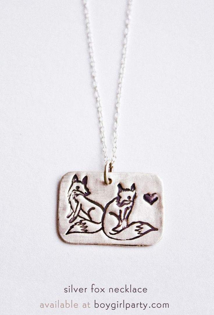 Fox Necklace Silver Pendant Available At Boyparty