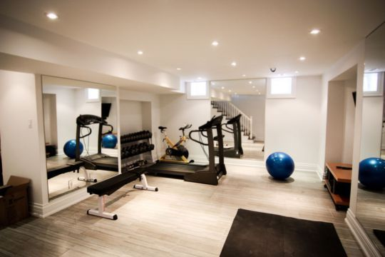 Finished basement ideas cool basements basement gym room at