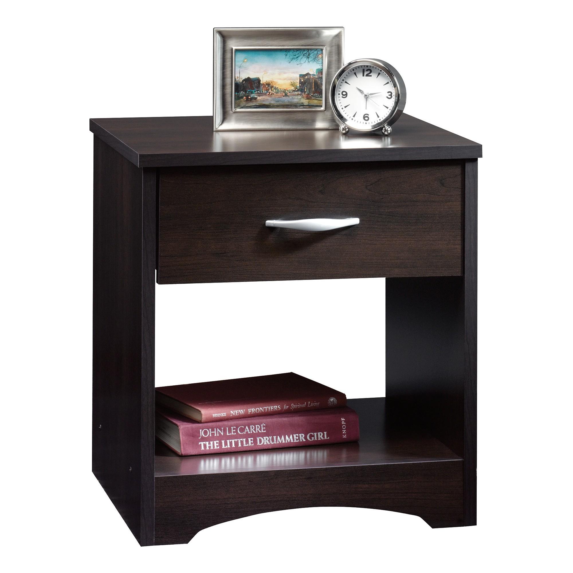 Beginnings Nightstand with Drawer & Open Shelf Cinnamon
