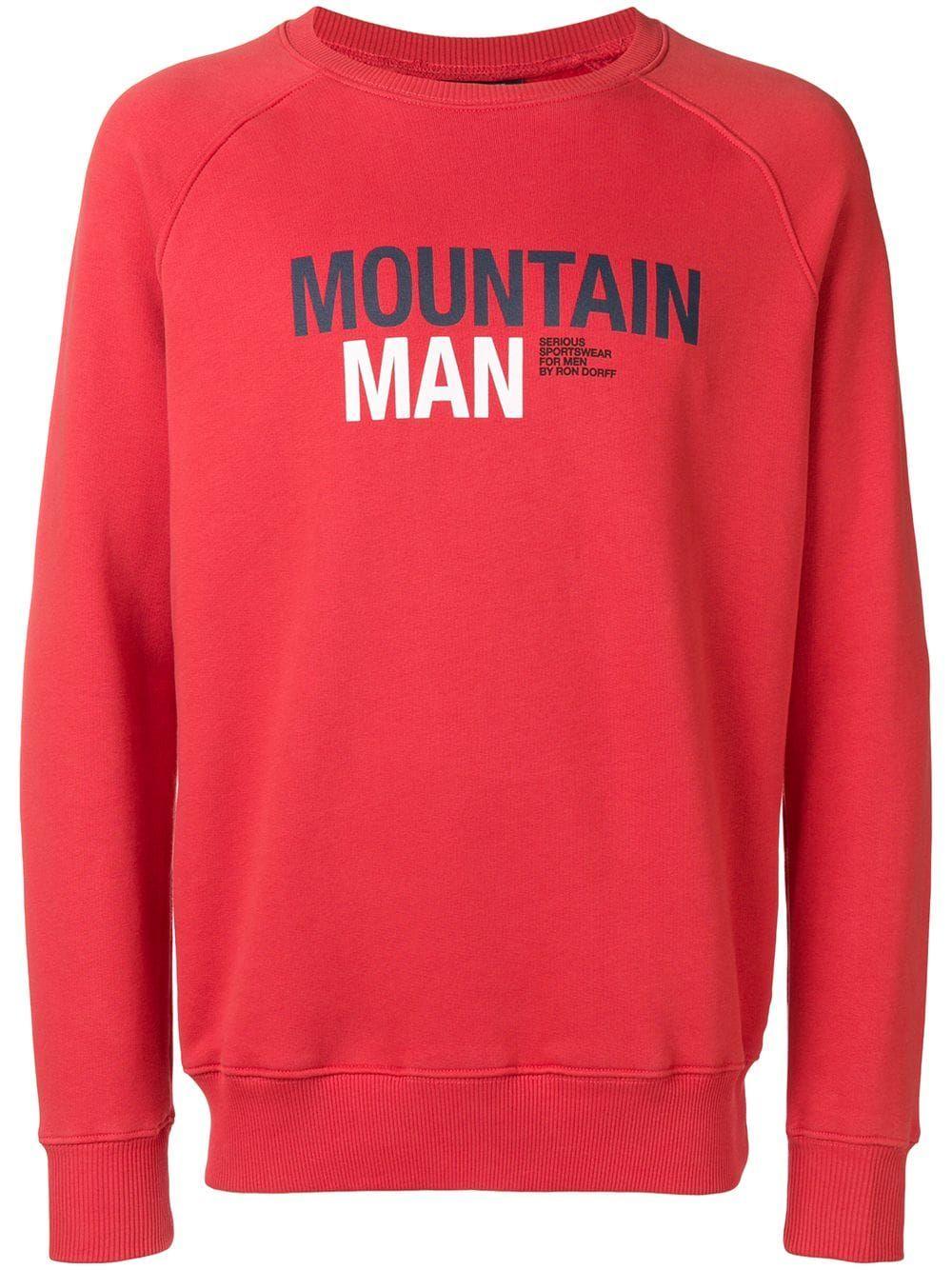 4ddaca0d228 RON DORFF RON DORFF MOUNTAIN MAN SWEATSHIRT - RED.  rondorff  cloth  Mountain Man