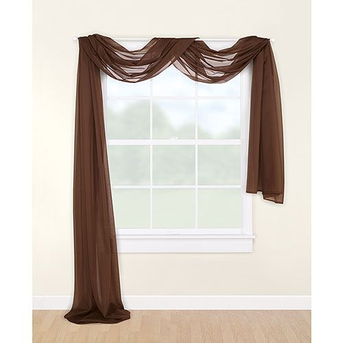 Mainstays Marjorie Sheer Voile Curtain Scarf Window
