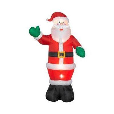 12\u0027 Tall Airblown Christmas Inflatable Santa christmas and
