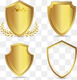Vector Hand Painted Golden Shield Png And Vector Vector Hand Shield Trophy Design