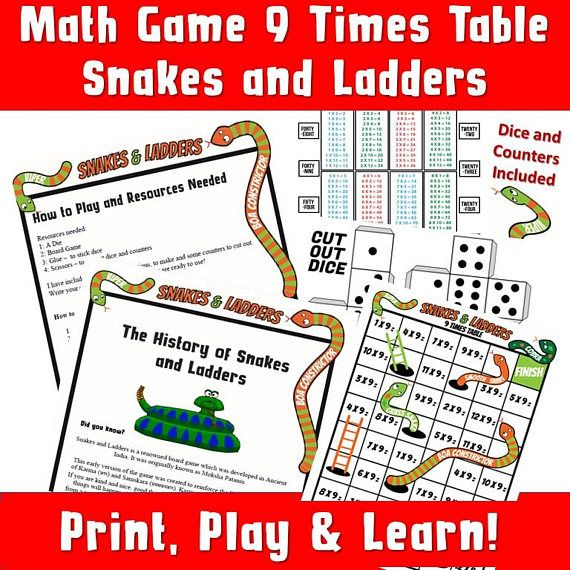 Times Tables Worksheets Ks2 Snakes And Ladders Multiplication Etsy Printable Games For Kids Printable Math Games Math Board Games